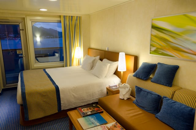 Balcony staterooms are comfortable, spacious and well-designed. Photo © 2014 Aaron Saunders