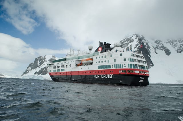 FRAM is, in my opinion, one of the prettiest - and sturdiest - expedition ships operating in Antarctica. Photo © 2015 Aaron Saunders