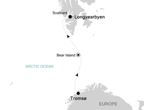 Silver Explorer Voyage 7514 will take me to the farthest reaches of Arctic Svalbard. Illustration courtesy of Silversea