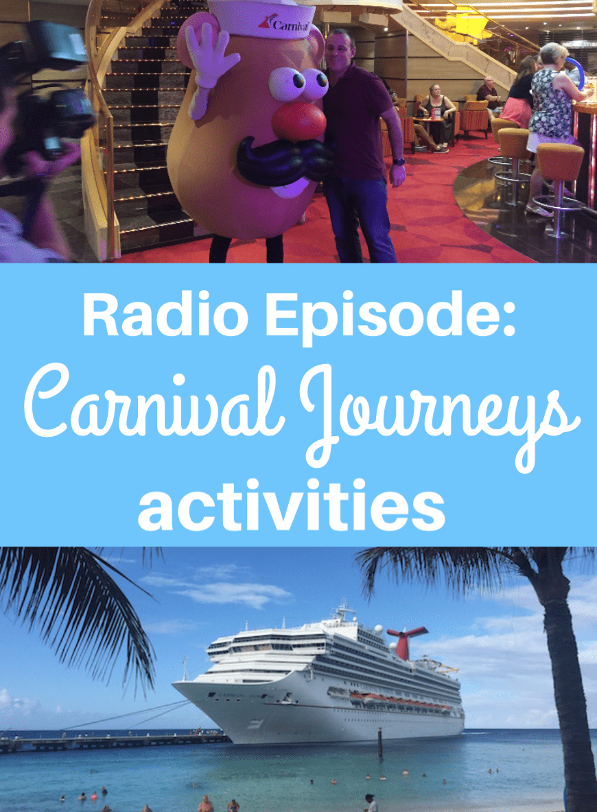 Radio Episode: Carnival Journeys cruise activities #carnivaljourneys #carnival #cruise #travel #carnivalcruise #familytravel #cruiseship #carnivalsunshine #cruising