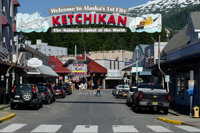 Ketchikan - the Salmon Capital of the World, and one of my personal favorite ports of call in Alaska. Photo © 2012 Aaron Saunders